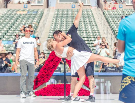 Is this the fittest wedding ever?