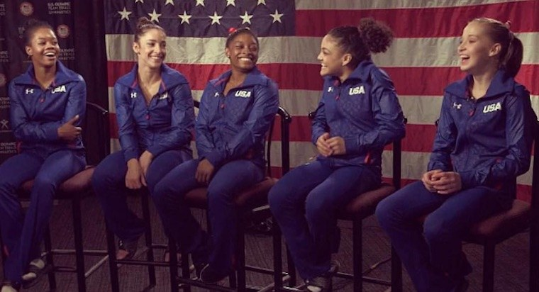 "Thumbnail for Meet the gymnasts you're about to be obsessed with: Team USA's ""Final 5"""