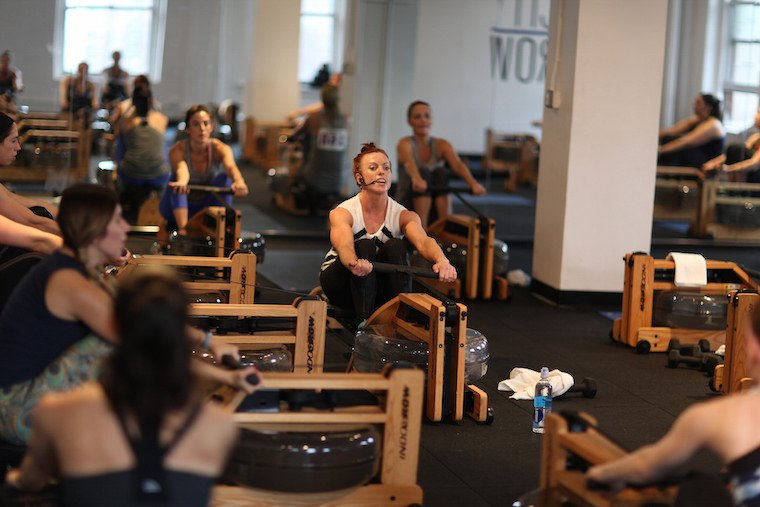 workout breathing, rowing