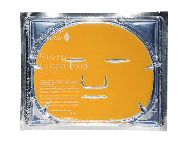 100% pure ginseng collagen sheet mask