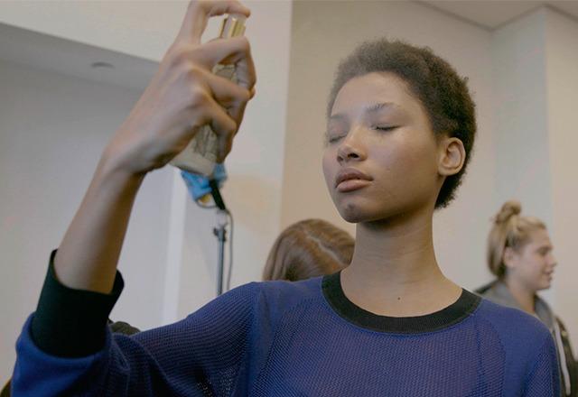 A model using the Caudalie Beauty Elixir. Photo: Caudalie