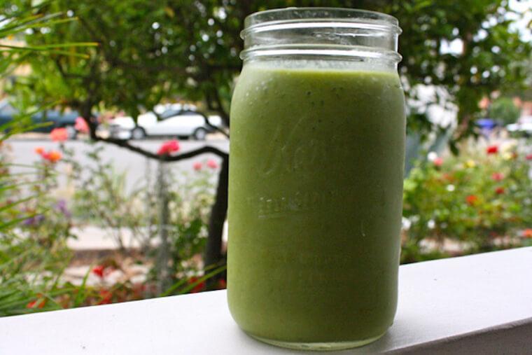 savory green garden smoothie