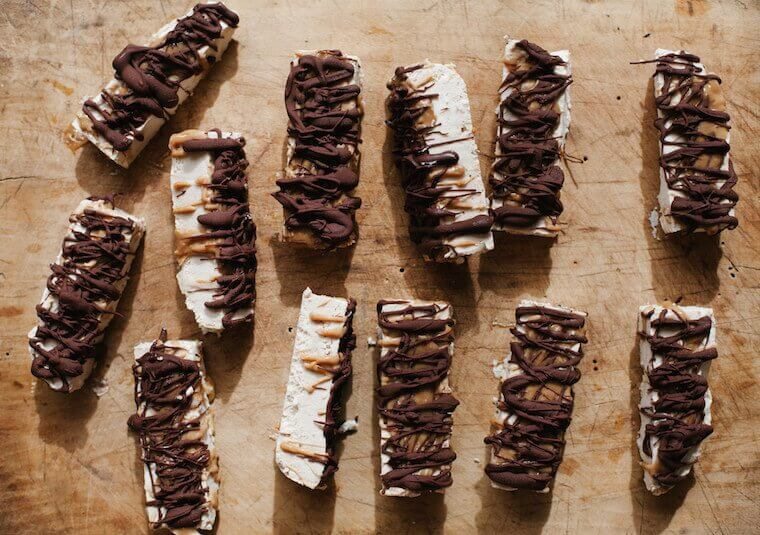 tahini ice cream bars