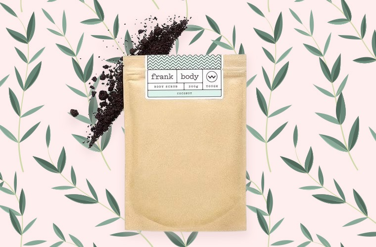 frank's coffee coconut body scrub