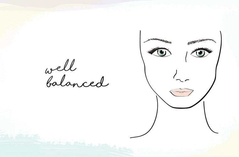 well balanced skin