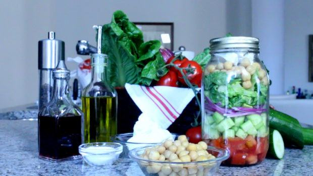 This portable salad is basically summer in a jar