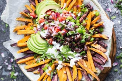 These healthy, loaded sweet potato fries will definitely make you popular at any party