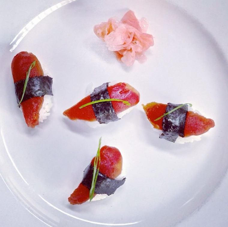 Thumbnail for This Tomato Sushi Looks and Tastes Like the Real Thing