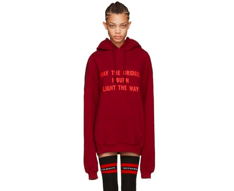 vetements may the bridges sweatshirt