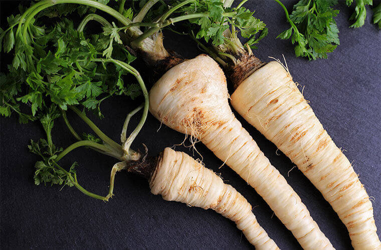natural stress relief parsnips