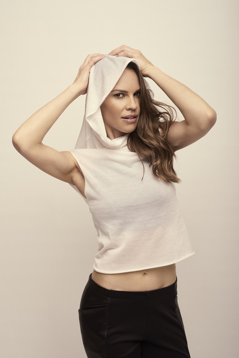 "Thumbnail for Hilary Swank's latest role? Redefining activewear with a hot ""crossover"" collection"