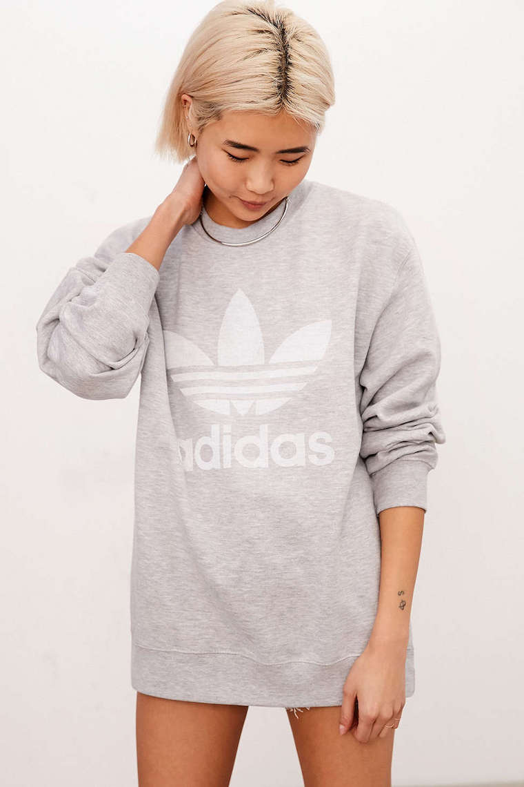 oversize sweatshirt trend adidas
