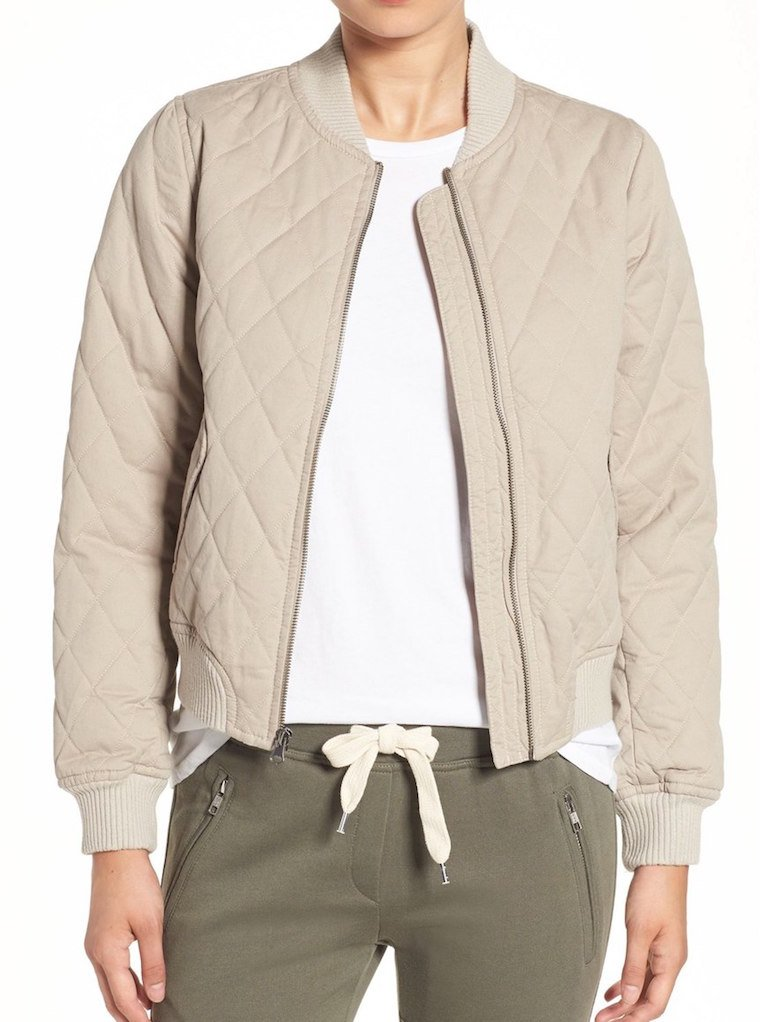 sincerely jules quilted bomber