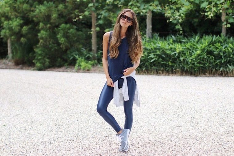 Thumbnail for 8 pairs of leggings that prove navy is the new black