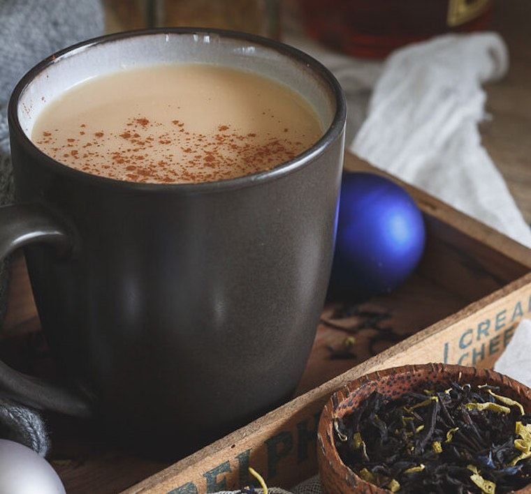 Running to the Kitchen's Coconut chai hot toddy