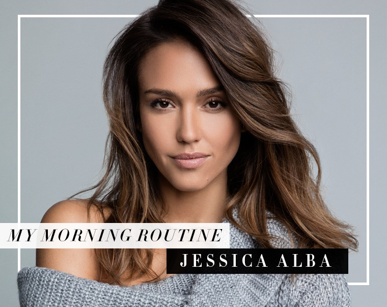 Thumbnail for The Brilliant Way Jessica Alba Motivates Herself for Morning Workouts