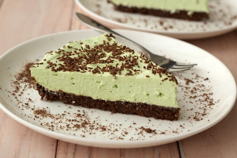 Loving It Vegan's Mint Cream Brownie Pie recipe