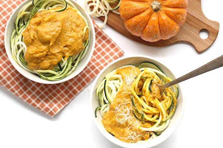 All Day I Dream About Food Creamy Pumpkin Zucchini Noodles recipe