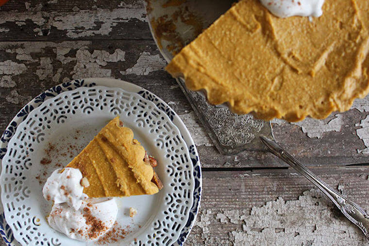 Nutrition Stripped's Raw Pumpkin Pie Cheesecake recipe