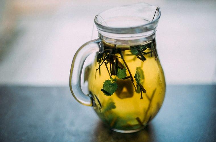 herbal tea after a sacred ritual bath