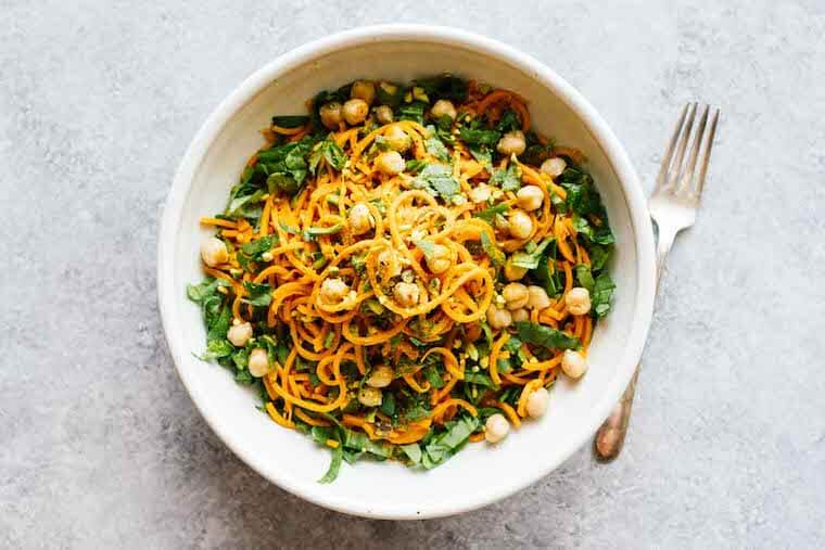 Jar of Lemons Turmeric Sweet Potato Pasta Salad recipe