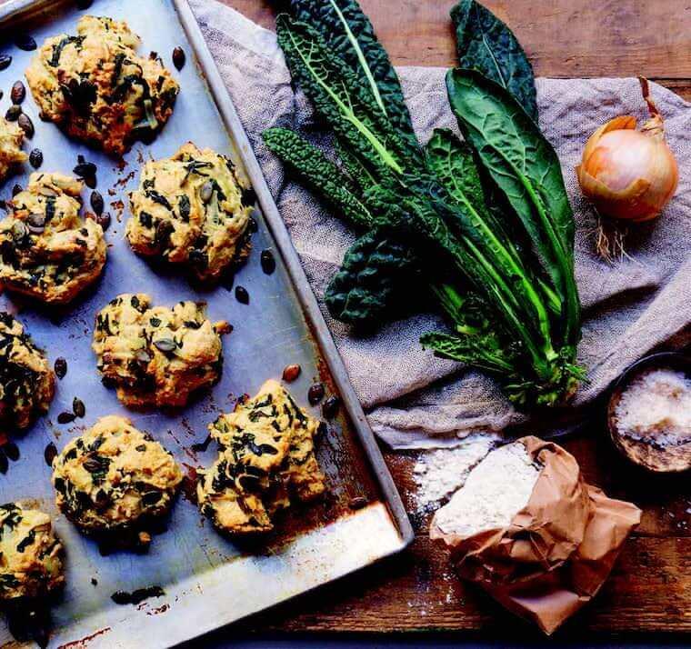 Vegan Goodness kale scones recipe