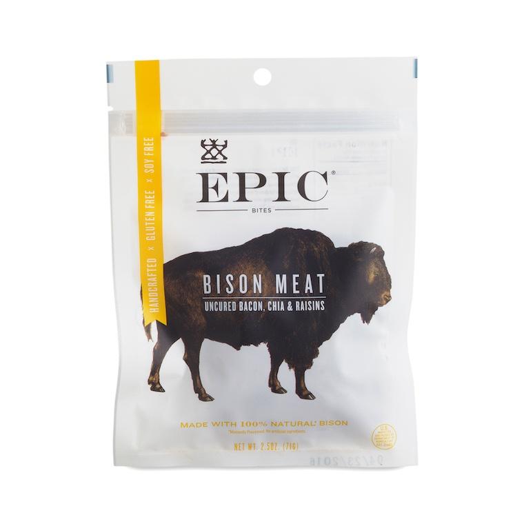 Epic bison jerky bites