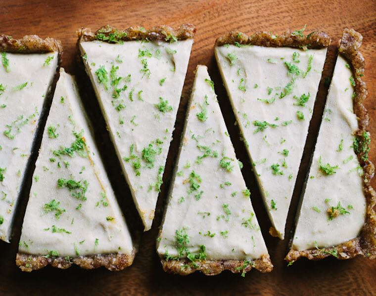 Gather and Dine's Raw Key Lime Tart recipe