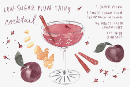 The Low-Sugar Plum Fairy cocktail has landed
