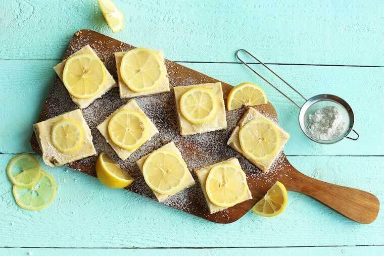 Minimalist Baker's Creamy lemon bars