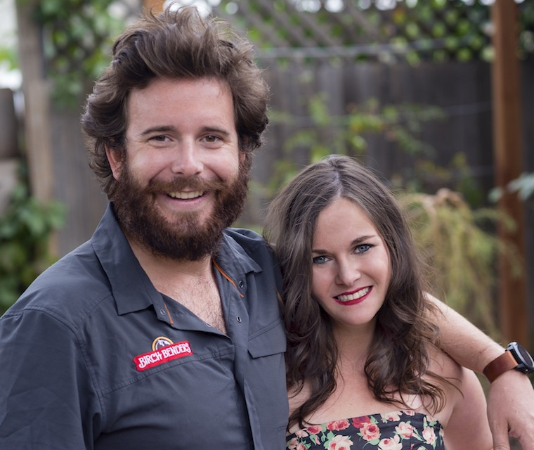 Matt LaCasse and Lizzi Ackerman, co-founders of Birch Benders