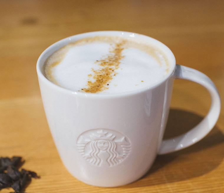 sugar profile on Starbucks' new cascara latte