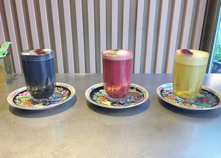 Thumbnail for This hidden cafe is serving up a rainbow of lattes—from beet to blue algae
