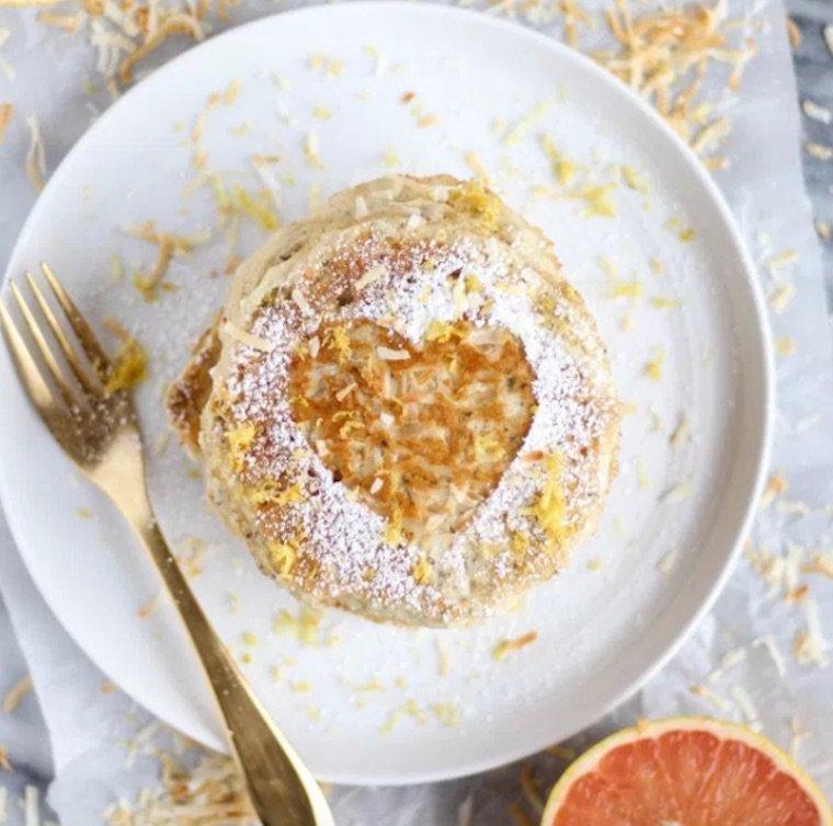 grapefruit gluten-free pancakes