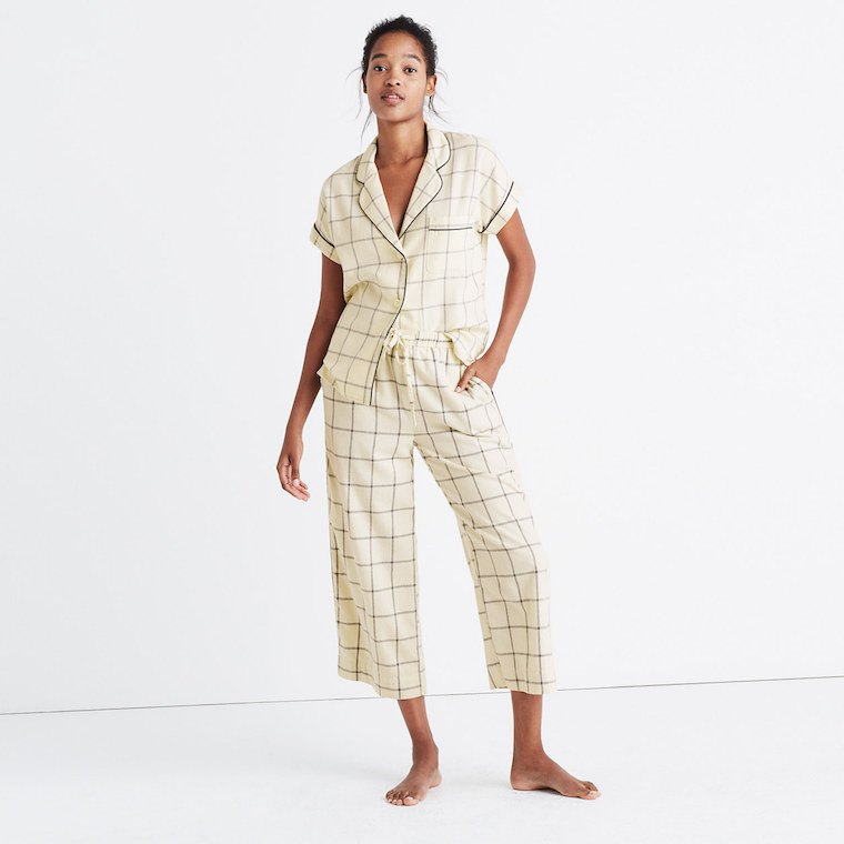 Madewell Flannel Pajamas Top and Pants