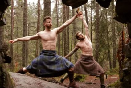 This video of men in kilts doing yoga is oddly soothing…and hot