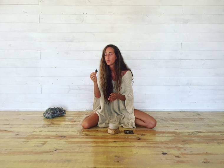 Photo: Maggie Harrsen at The Shack Yoga in Jose Ignacio, Uruguay
