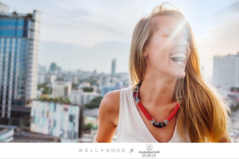 sun woman smiling