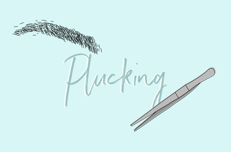 brow plucking