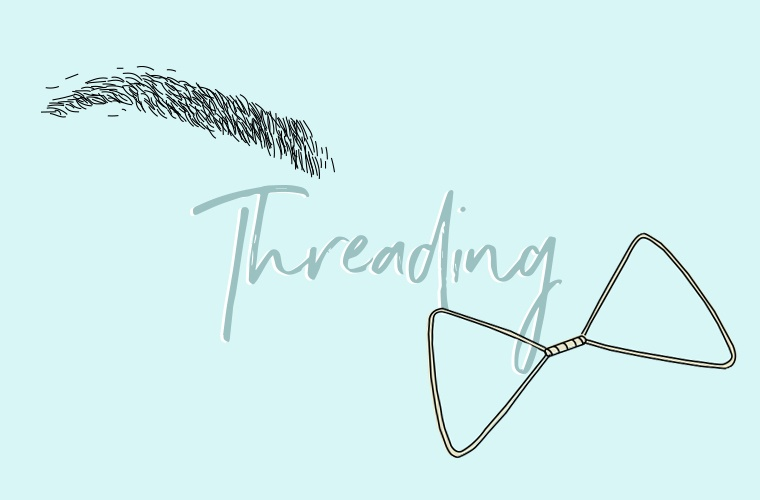 threading brows