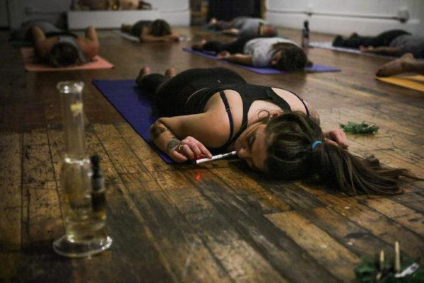 "I tried ""ganja yoga""—and left my mat with a totally different type of high"