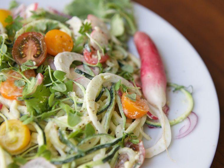 Got 10 minutes? Make this delish zoodle salad from LA's coolest healthy café