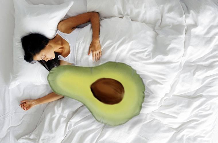 avocado body pillow
