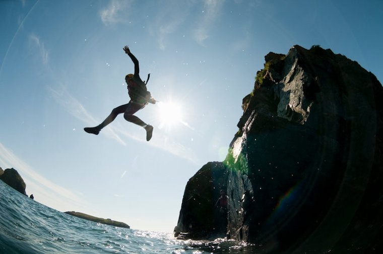 Coasteering in Wales