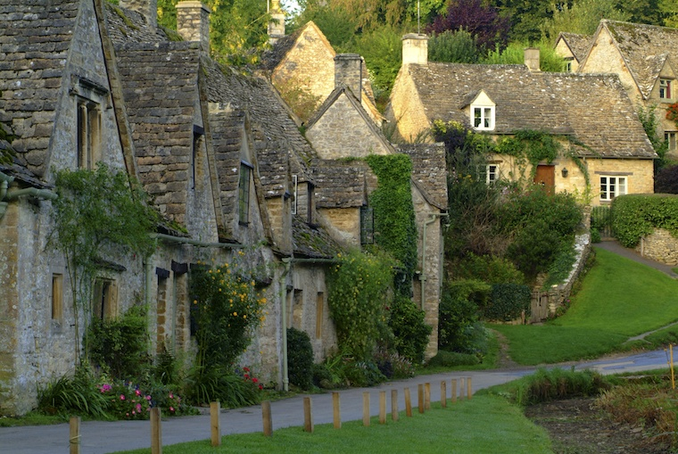 Cottages in Cotswolds, England