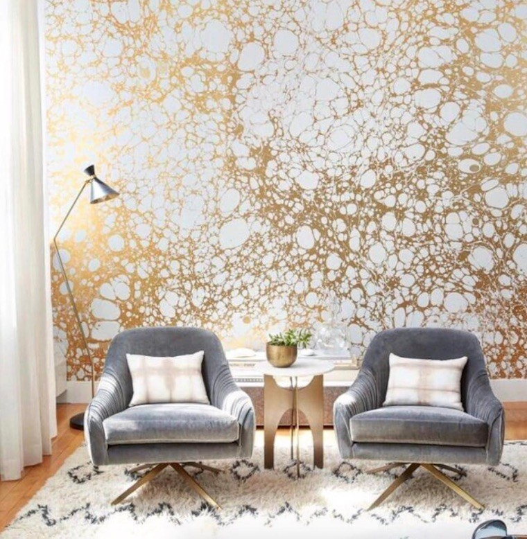 Why every hangout worthy apartment needs a statement wall for Wallpaper accent wall ideas living room