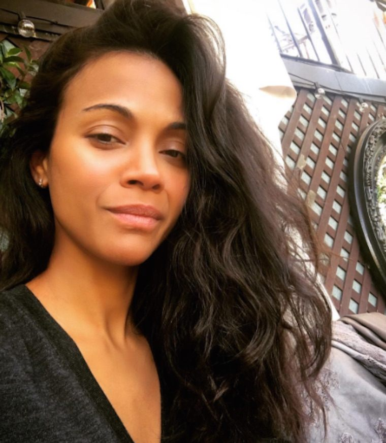 zoe saldana pimple hack