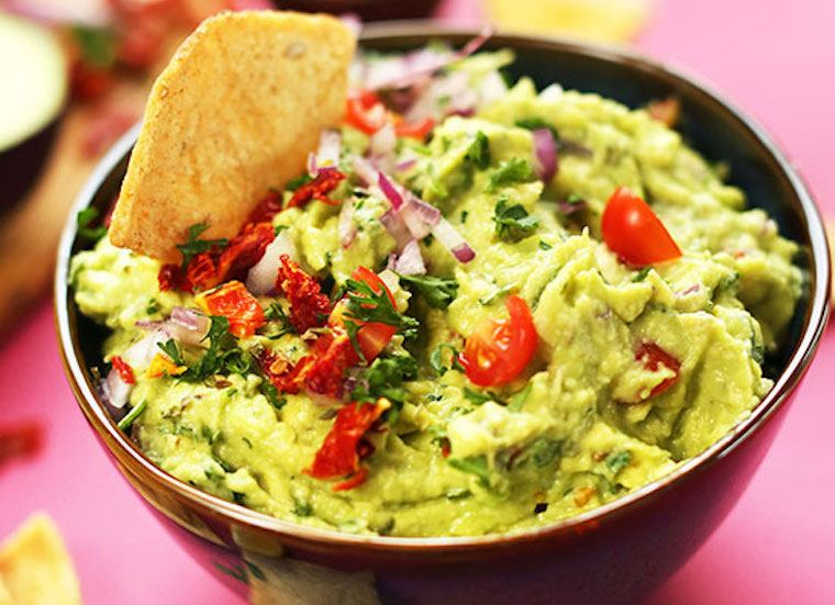 Greek salad guacamole