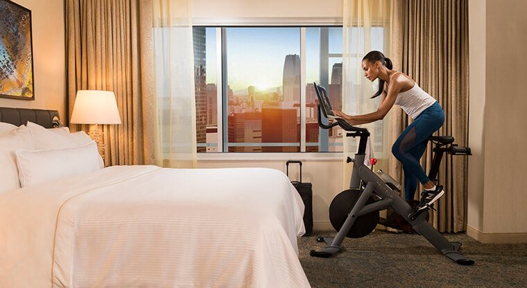 Thumbnail for Exclusive: You can now break a Peloton-style sweat in your hotel room