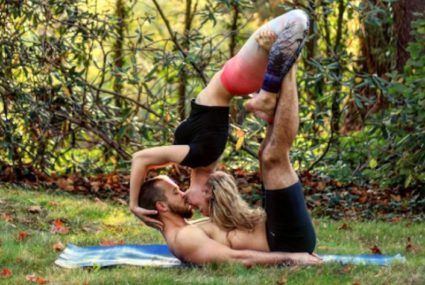 This AcroYoga couple took their marriage proposal to new heights (literally)